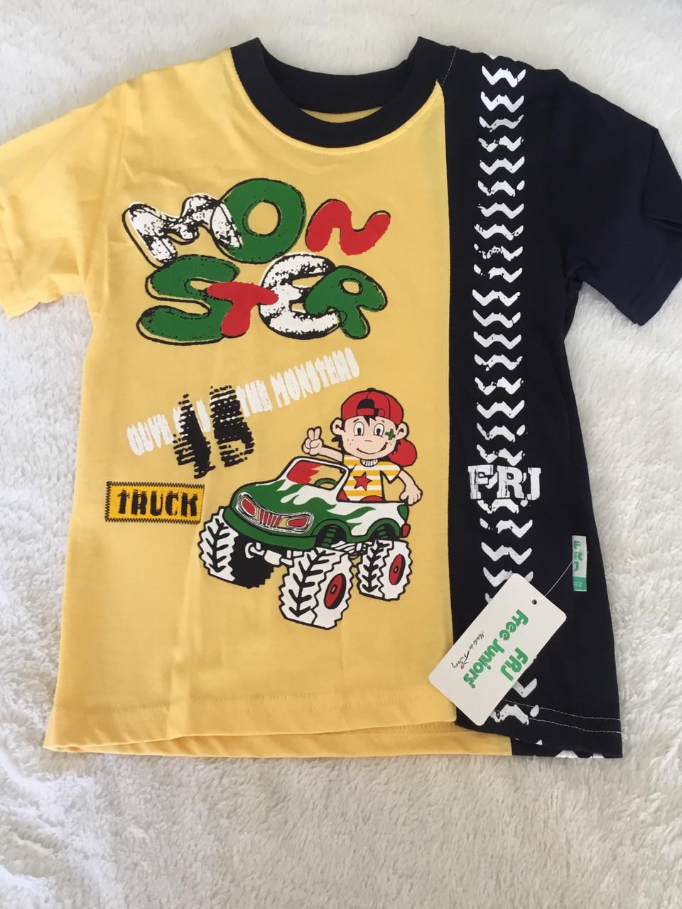 Стильная футболка для мальчика с принтом