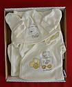"""Комплект для новорожденных на выписку """"Медвежонок в машинке"""" желтый (5 элементов) (Nicol, Польша), фото 2"""