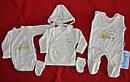 """Комплект для новорожденных на выписку """"Медвежонок в машинке"""" желтый (5 элементов) (Nicol, Польша), фото 3"""