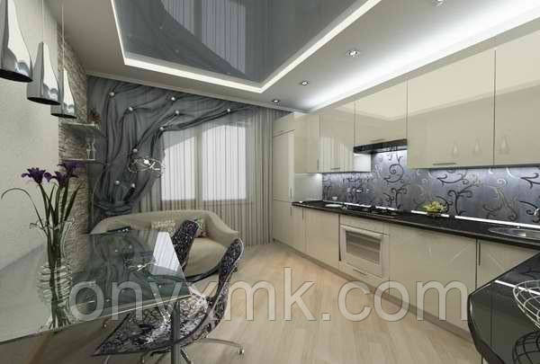 Кухня с фасадами из МДФ крашеного