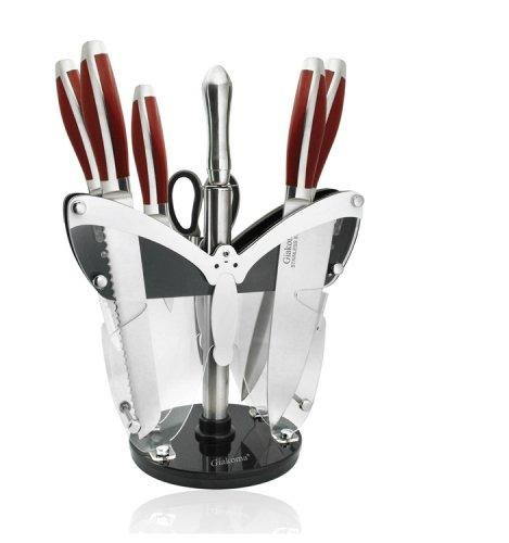 Набор кухонных ножей на подставке «Giakoma»