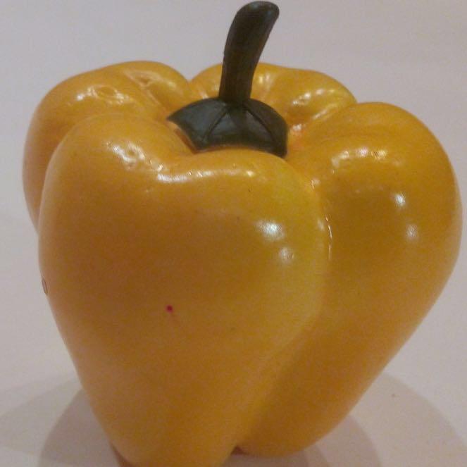 Муляж болгарского желтого перца,искусственный перец