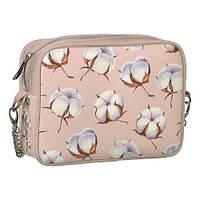 Молодежная сумка на цепочке розовая CHE2_CLF011_PUD