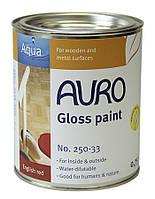 Натуральная глянцевая краска  AURO № 250 белая 0,375 л