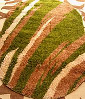 Ворсистый ковер шагги Салют green