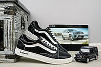 Подростковые кожаные кеды Vans Old Skool черные 10876