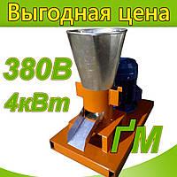 """Гранулятор """"ФЕРМЕР-3""""  с плоской матрицей 150мм 4,0кВт 380В"""