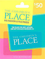 The Children's Place Gift Cards от 25$ до 50$, скидка 2%