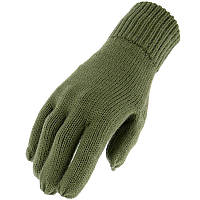 Перчатки зимние, вязаные, olive, фото 1