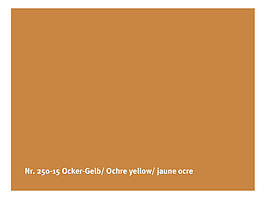 Натуральна глянсова фарба AURO № 250 охра жовта 0,375 л