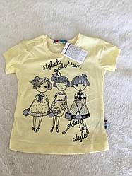 Яркая футболка для девочки на каждый день