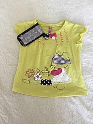 Стильная футболка для девочки на лето