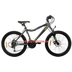 Подростковый велосипед Azimut Voltage 24 GD серо-черный