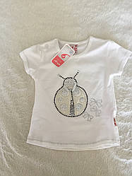 Белая футболка для девочки с принтом