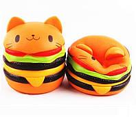 Сквиш Кот-гамбургер - антистресс игрушка Squishy ароматизированная