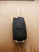 Корпус выкидного автоключа для Seat (Сеат) 2 - кнопки + 1 кнопка