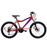 Подростковый велосипед Azimut Voltage 24 D+ красно-черный