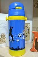 Термос детский с трубочкой Футбол