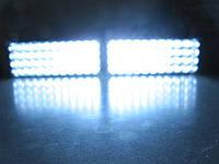 Стробоскопы под бампер Led 2-44 белые 12В. https://gv-auto.com.ua, фото 1