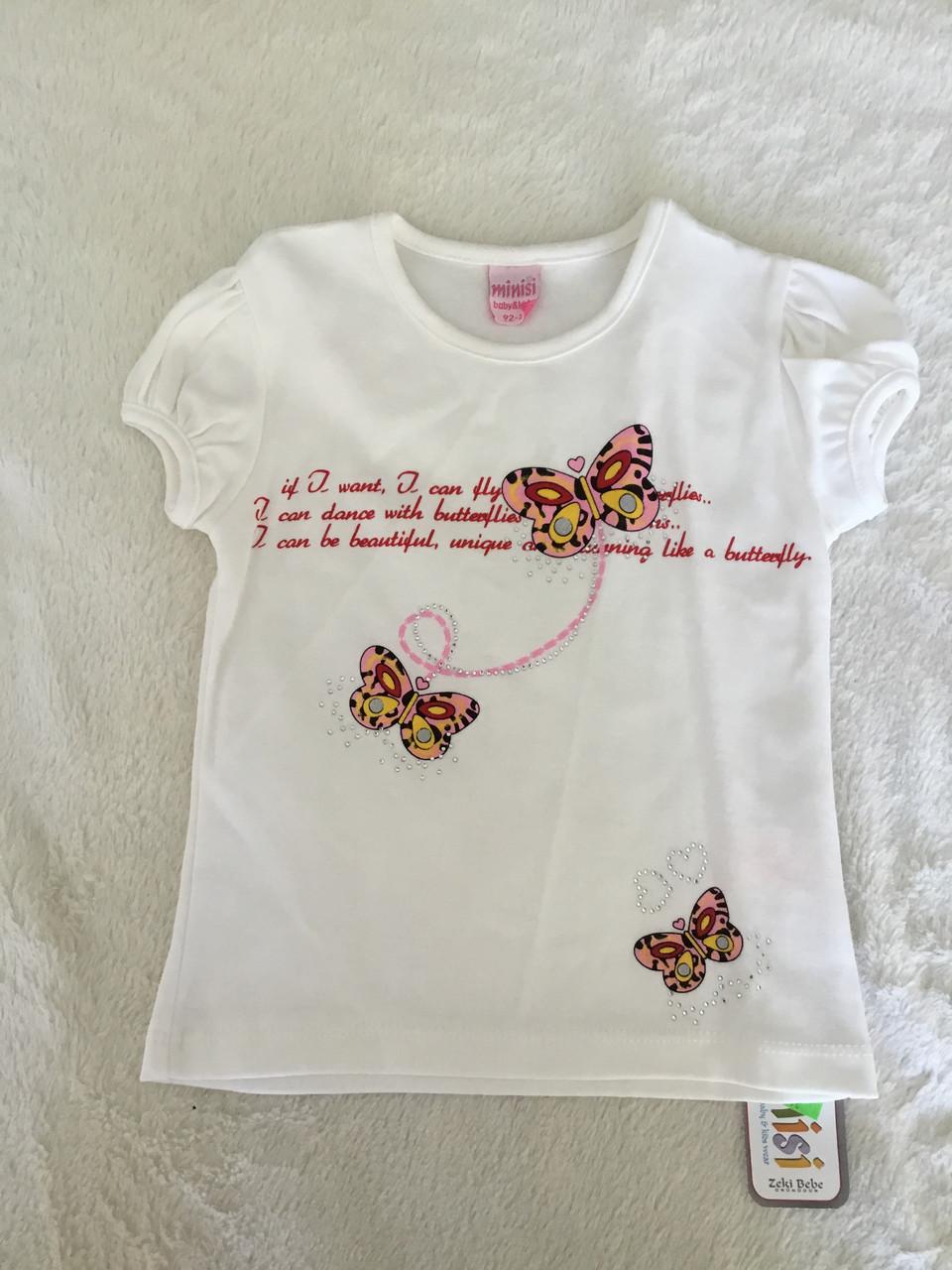 Стильная футболка для девочки с коротким рукавом
