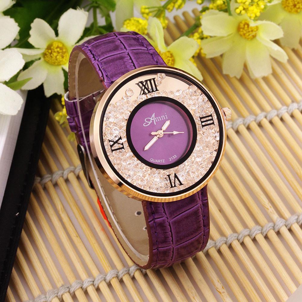 Часы наручные, Geneva, Ремешок: Фиолетовый, Фиолетовый циферблат, Римские цифры