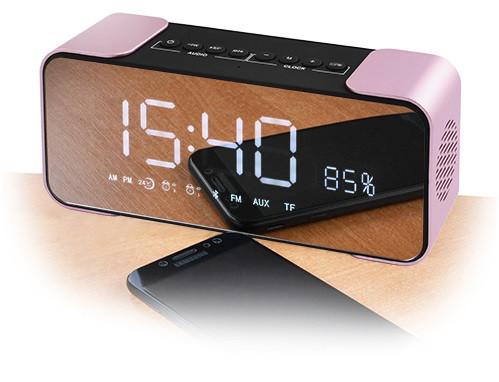 Портативная колонка PTH-305 Bluetooth + часы + будильник + радио