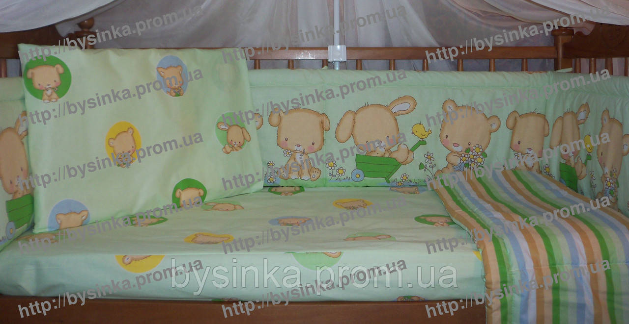 Комплект сменного постельного белья кроватку новорожденного