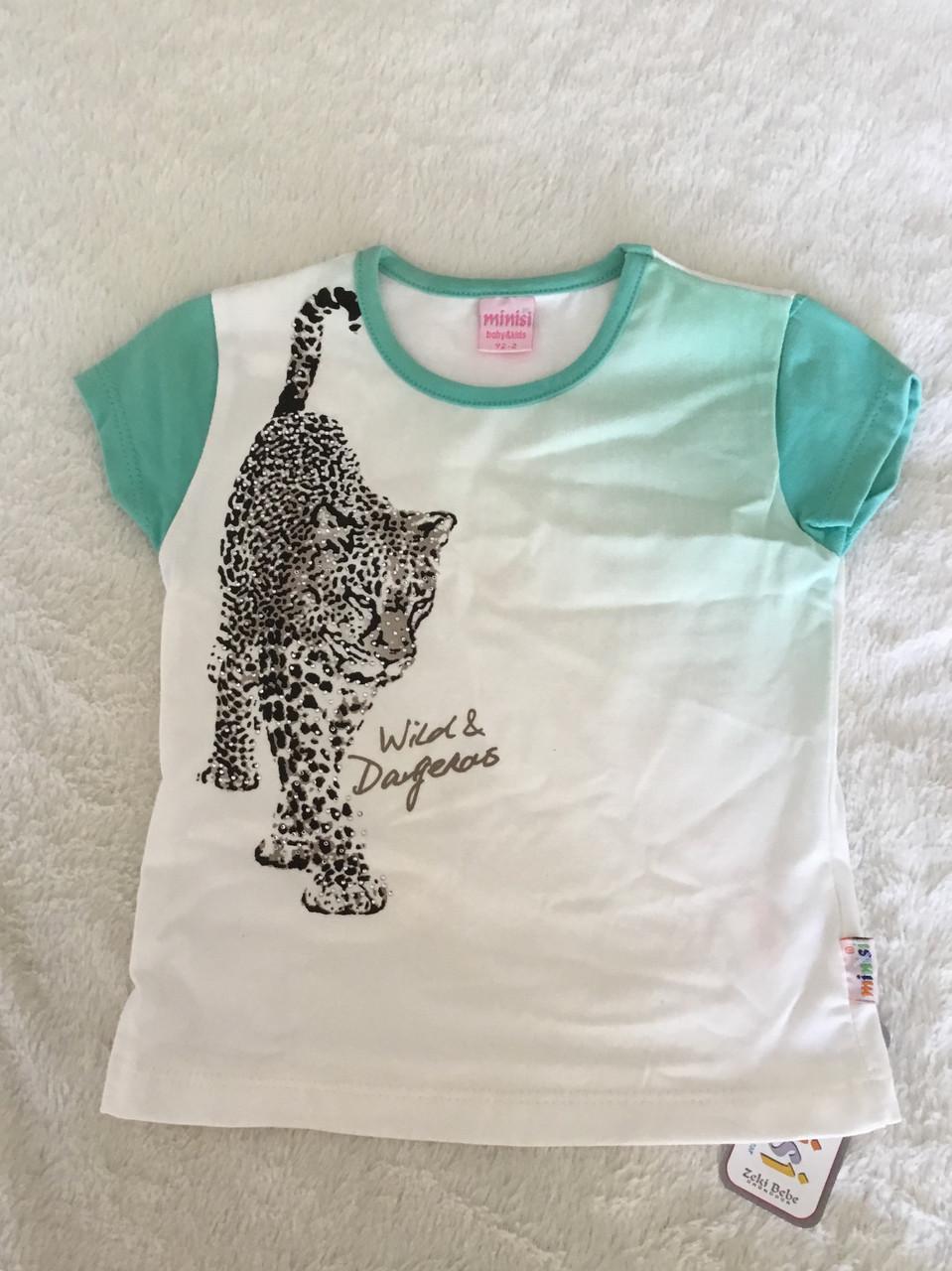 """Модная футболка для девочки """"Леопард"""""""