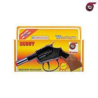 Пистолет Scout 100-зарядный 13.5 см стреляет бумажными пистонами коробка
