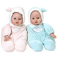 Куклы пупсы виниловые Adora в розовом, голубом комбинезонах, 2шт.