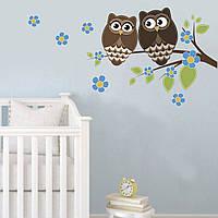 """Наклейки на стену детские """"Две совы"""""""
