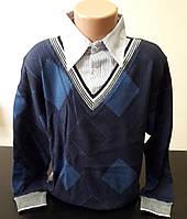 Обманка, желетка-рубашка подростковая для мальчика