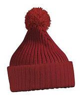 Вязаная шапка с помпоном 7540-3-В1059  Myrtle Beach