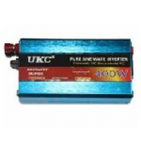 Инвертор напряжения UKC XR-400W, 280Вт, 24/220 с правильной синусоидой, 2 евророзетки, клемы + провода