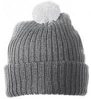 Вязаная шапка с помпоном 7540-6-В1061  Myrtle Beach