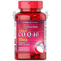 Puritan's Pride Q-SORB™ Co Q-10 30 mg для сердца и сосудов антиоксидант коэнзим ку10 против старения