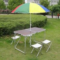 Стол раскладной для пикника кемпинга туризма сада +4 стула чемодан