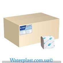 Туалетная бумага листовая, макулатурная, серая b-303