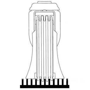 Колесо поворотное б/у Серия 13 Norma EL с крепёжным фланцем Tente 125мм. (Траволаторные ролики с тормозом), фото 2