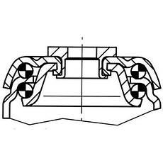 Колесо поворотное б/у Серия 13 Norma EL с крепёжным фланцем Tente 125мм. (Траволаторные ролики с тормозом), фото 3