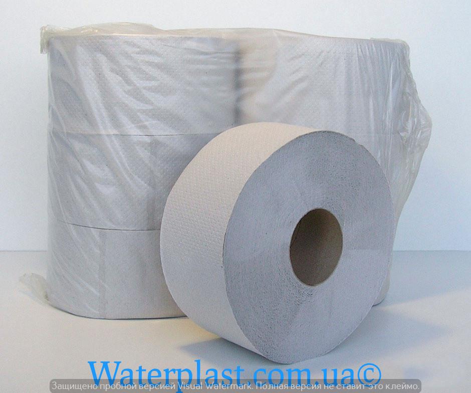 Туалетная бумага рулонная, макулатура джамбо 130 метров