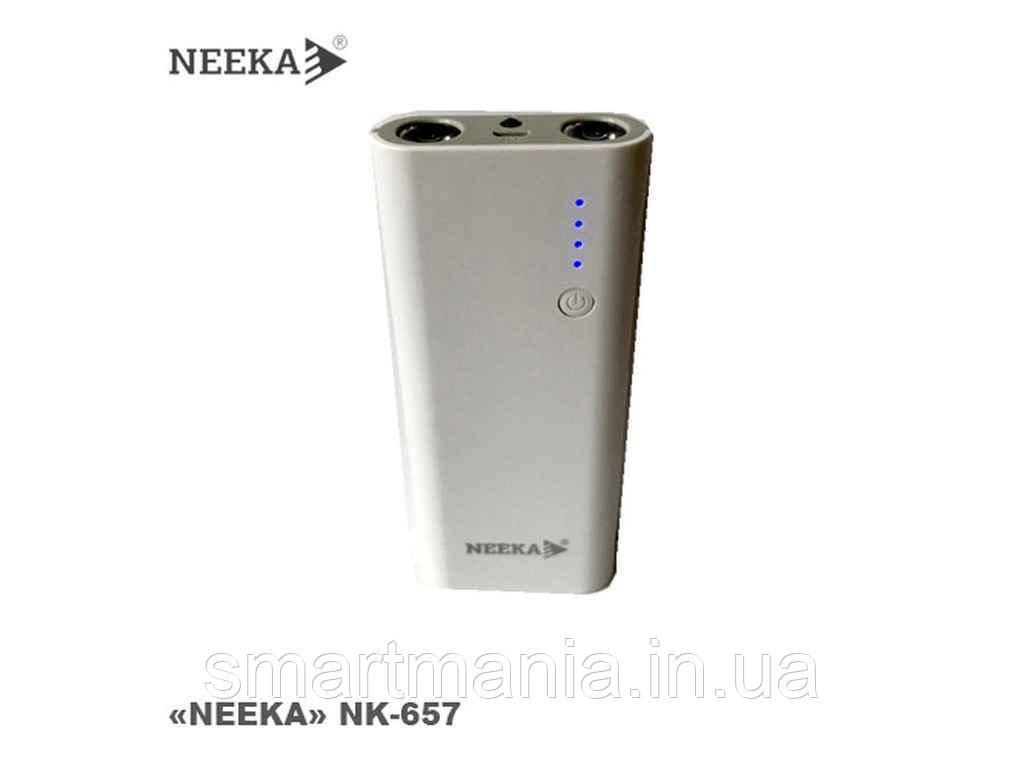 Power bank NK-657 портативный аккумулятор УМБ 11200mAh (с фонариком)
