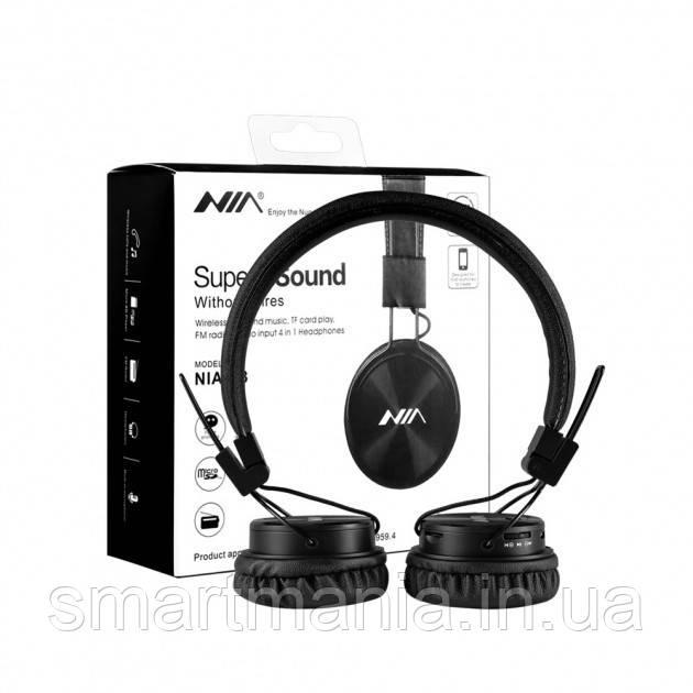 Беспроводные Bluetooth стерео наушники NIA X3 с МР3