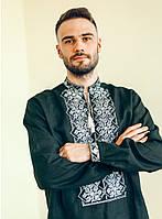 Вишиванка чоловіча Руслан. Чорний льон