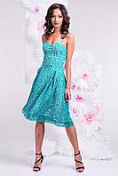 Платье-сарафан зеленое/разные цвета