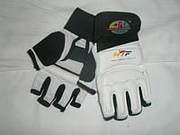Накладки(перчатки) для таеквондо PU+PL BO-2310 WTF,белый