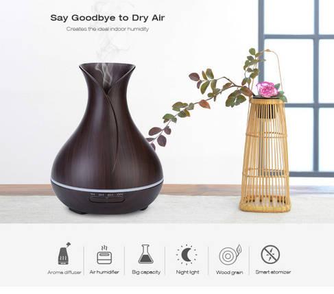 Увлажнитель воздуха, Air cleaner, Очиститель воздуха.Увлажнитель воздуха, арома лампа с LED подсветкой., фото 2