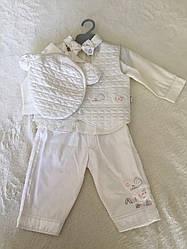 Белый набор для новорожденного с шапочкой