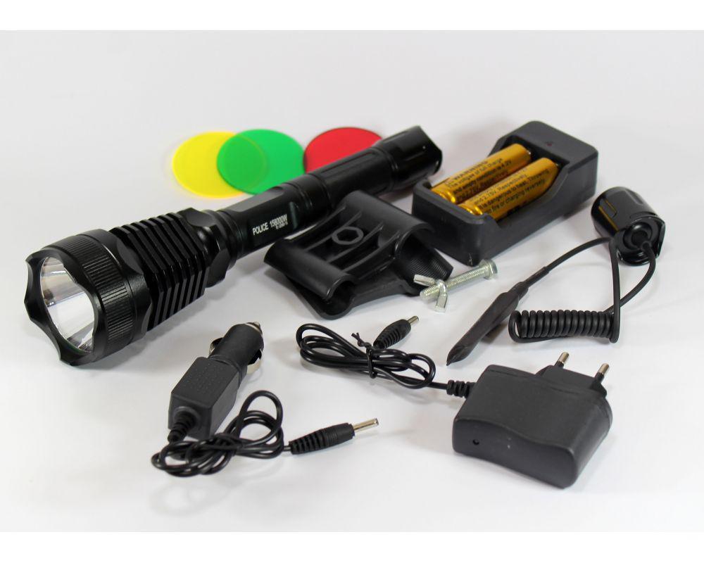 Очень мощный подствольный тактический фонарь Police Bailong BL-Q2800-T6 158000W.