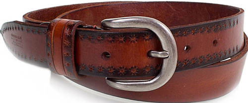 Женский качественный кожаный ремень ETERNO (ЭТЕРНО) E8015-brown